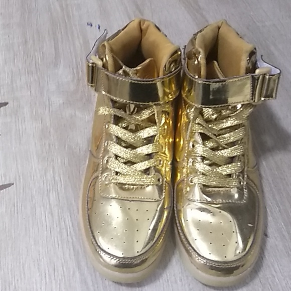 gold digger Shoes   Gold High Top